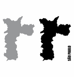 sao paulo city silhouette maps vector image