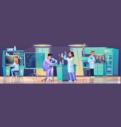 scientific medical research laboratory technicians vector image