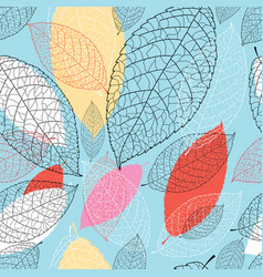 Seamless bright graphic pattern from the leaves vector