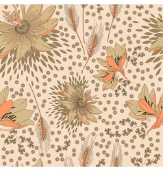Seamless pattern with flowers lily vector image