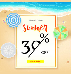 Selling ad banner vintage text design summer vector