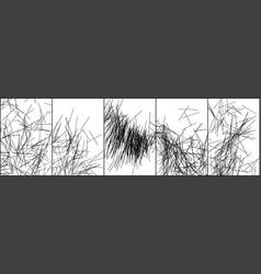 set black stripes texture on white background vector image