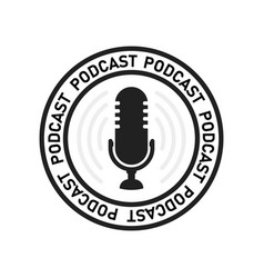 simple flat podcast recording podcasting icon or vector image