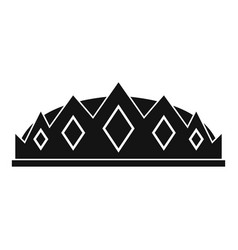 Small crown icon simple style vector