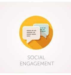 Social Engagement Icon Flat design style with vector