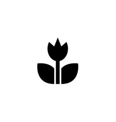 spring tulip garden flower flat icon vector image