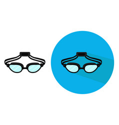 Swimming goggles on white background vector