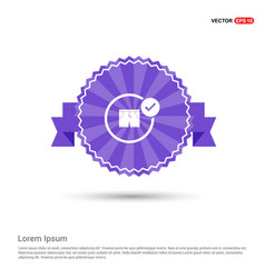 swimming trunks icon - purple ribbon banner vector image