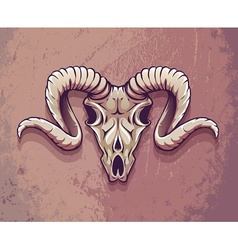 Terrible animals skull with vector