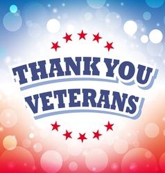 thank you veterans banner vector image