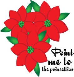 The Poinsettias vector