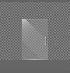 Transparent glass door vector