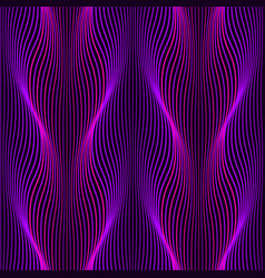 ultraviolet neon wavy lines seamless pattern vector image