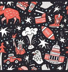 usa seamless pattern vector image