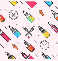 vape seamless pattern background with e vector image