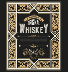 vintage card for whiskey vector image