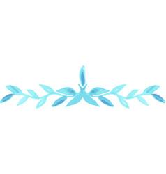 watercolor divider hand drawn flourish swirl vector image