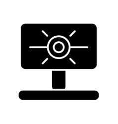 Web camera solid icon computer cam vector