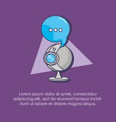 web camera speech bubble communication innovation vector image