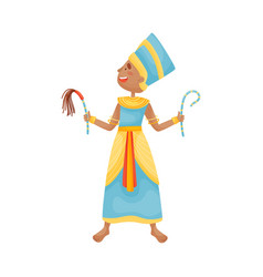 Woman in a traditional dress pharaoh vector