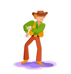 Young man dancing at a disco vector