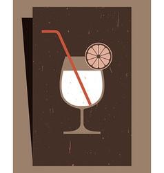 Cocktails Menu Card Design vector image vector image