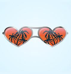 Heart shape glasses vector