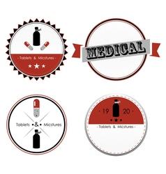 Set of medical shop labels and design elements vector image
