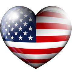 STARS and STRIPES HEART vector image vector image