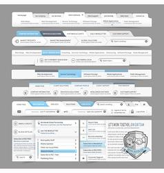 Website design menu navigation vector image vector image