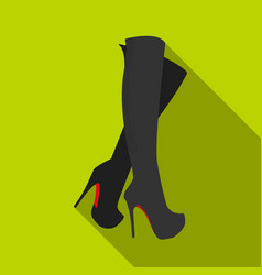 leather high-heeled women sexy shoes women s vector image