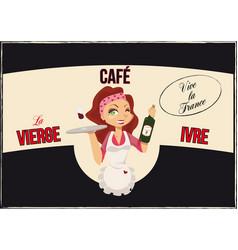 vintage bar poster vector image vector image