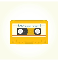 Audio cassette isolated vector image