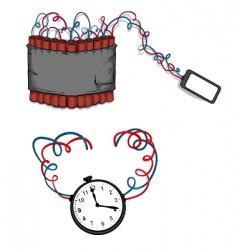 clock bombs vector image vector image