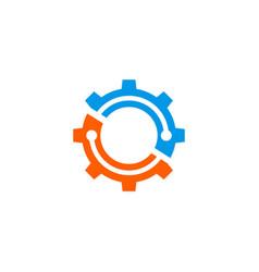 gear color logo vector image