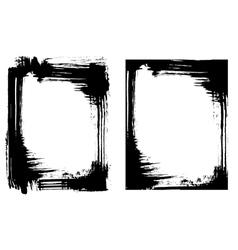 Grunge brush smear frame 2 variations vector image vector image