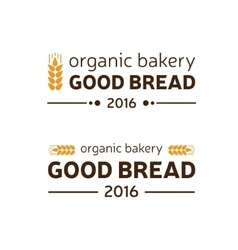 Organic bakery good bread vector