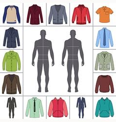 street fashion clothing 11 vector image vector image