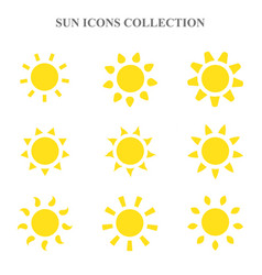 sun icons set vector image