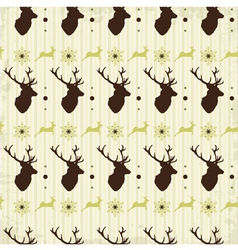 Vintage seamless background christmas pattern vector image vector image