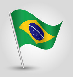 waving simple triangle brazilian flag vector image vector image