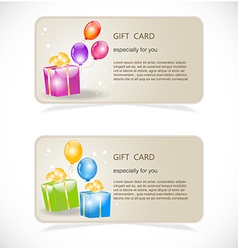 Gift boxes with gold ribbons vector image vector image