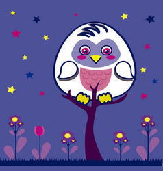 owl in the nigth vector image