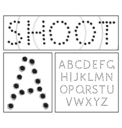 shooter alphabet vector image vector image