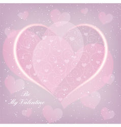 St Valentine Day Heart Shape Greeting Card vector image vector image