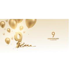 9th anniversary celebration background vector