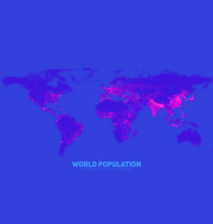 abstract world population density vector image