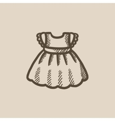 Baby dress sketch icon vector image