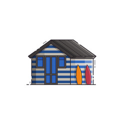 Beach hut house vector