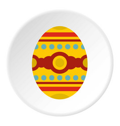 Beautiful easter egg icon circle vector